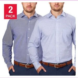 T.Hilfiger Men's 2 Pack Fused collar Dress shirt!